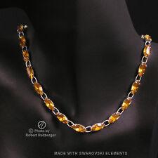 Navette Collar con Swarovski Elements: Topacio Marrón