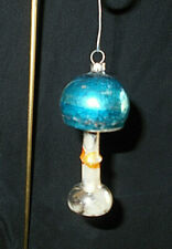 "Ant. German Mercury Glass Lamp Christmas Ornament~3 1/2"" H"