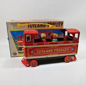 Masudaya Toyland Trolley Tin Toy Japan Captain Kangaroo