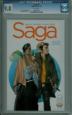SAGA #1 CGC 9.8 NM/MT mint white pages Vaughan Staples Image comics 1098654015