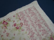 One Shabby Vintage Chic Standard Pillow Sham Cottage Roses Chenille Pink