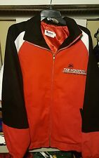 NASCAR The Winston No Bull Charlotte Race Jacket mens SIZE XL black red zip up