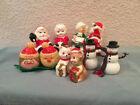 Vintage Christmas Group of Five salt and pepper shakers