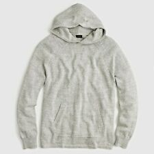 J. Crew Jeans Cotton Wool Sweater Hoodie Heather Grey Slate Vintage Mens Small