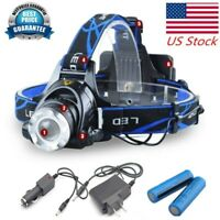 High Power LED/COB Rechargeable Light 990000LM Headlamp Tactical 18650/AAA Batt