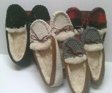 Womens Size 5,6,9,10,12 Slippers Moccasins DEARFOAMS  Faux Fur Memory Foam