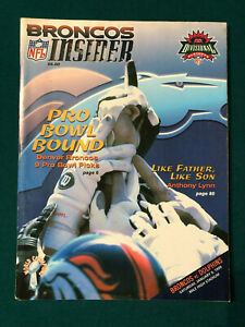 MIAMI DOLPHINS DENVER BRONCOS PLAYOFF 1/9/99 DAN MARINO v JOHN ELWAY PROGRAM NFL