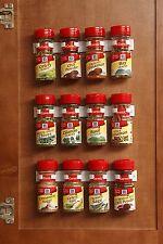 Kitchen RV Spice Gripper Clip Strip 12 Jar Rack Storage Holder Wall Cabinet