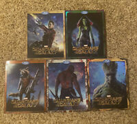 Lot of 5 Guardians of the Galaxy (2014) Bluray DVD Variant Covers (Complete Set)