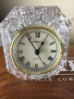 SHANNON CRYSTAL  QUARTZ MANTLE CLOCK--DESIGNS OF IRELAND-- Beautiful Clock BS2
