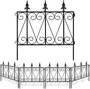 Garden Fence Rustproof Metal Wire 24'5panels Outdoor Landscape Decorative Border
