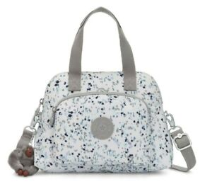 Kipling TRACY S Small tote with removable shoulder strap - Sprinkle Dot Blue