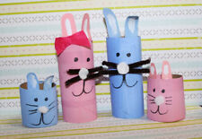 Toys for baby, Rabbit Family Handmade from Toilet Paper Core.