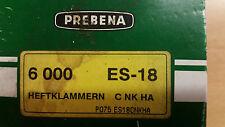 Prebena ES-18 Galvanizado Grapas. ajuste Prebena Grapadora 2P-ES40SDS, 2XR-ES40