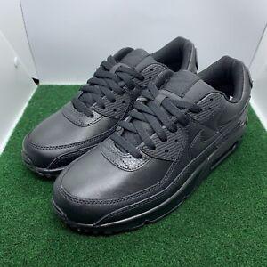 Nike Air Max 90 LTR Leather Triple Black CZ5594-001 Men's Size 9