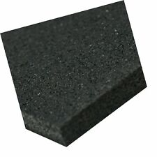 Recycled Rubber Sheet, 60 Shore A, Black, Smooth Finish, No Backing, 3/8
