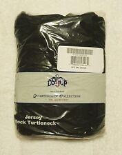 "Big Mens DSCP Mock Turtleneck Jersey Long Sleeve T-Shirt 3X Black 53"" - 57"" NWT"