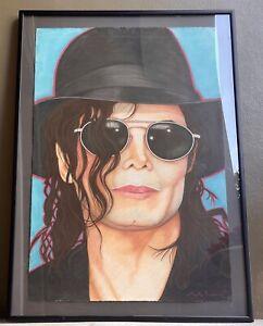 "JACK DOWD Authentic Signed Original 38"" x 54"" Pastel PAINTING of Michael Jackson"