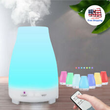 7-Color Led Essential Oil Diffuser Aromatherapy Cool Mist Ultrasonic Humidifier