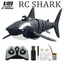 2.4G Remote Control Simulation Shark Toy Rc Shark w/ Lights for Swimming Pools