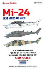 Caracal Decals 1/48 MIL Mi-24 HIND Last Hind Helicopters of NATO