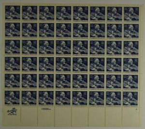 US SCOTT 1950 PANE OF 48 FDR STAMPS 20 CENT FACE MNH