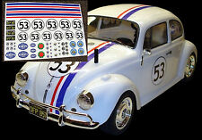 RC Herbie VW Decalcomanie Adesivi Tamiya Sand Scorcher Traxxas Blitzer Monster Beetle