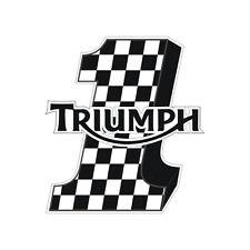 Sticker plastifié NUMBER ONE DAMIER Triumph Daytona Street Speed - 9cm x 8cm