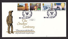 1986 INDUSTRY YEAR SET OF 4 ON OFFICIAL FDC SCARCE HANDSTAMP