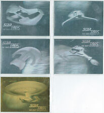 STAR TREK THE NEXT GENERATION INAUGURAL EDITION SET OF 5 HOLOGRAM CARDS