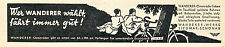 Fahrrad Wanderer Siegmar Schönau Orig. Reklame 1936 bicycle ad