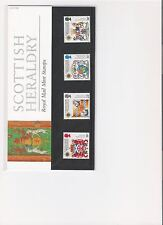 1987 ROYAL MAIL PRESENTATION PACK SCOTTISH HERALDRY MINT DECIMAL STAMPS