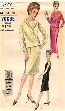1960's VTG VOGUE SPECIAL DESIGN One Piece Dress and Overblouse Pattern 5779  14