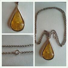 Ciondolo in ambra collana argento 835 Accessori