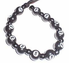 12 Black & White 8 Ball Plastic 11mm Beads