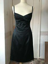 Oasis black party dress, backless, beaded, slit, stretch, cocktail, 12
