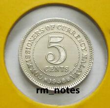 """MALAYA KG VI 5cents coin 1948  """"BU"""""""