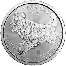 2018 Predator Series Wolf 1 oz Silver Coin | Direct From RCM Tube