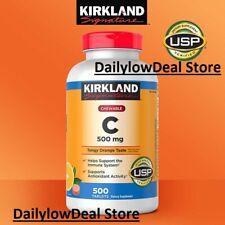 Kirkland Signature Vitamin C 500mg Chewable Tablets - 500 Count EXP: 04/2023