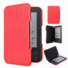 QW Red Slim Leather Protector Pouch Case Cover For Amazon Kindle Keyboard