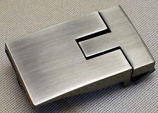 Gürtelschnalle KLEMMKOPPEL f. Gürtelbreite 35mm METALL Farbe MATTSILBER Koppel #
