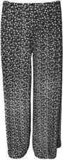Pantaloni da donna neri a gamba larga taglia 42