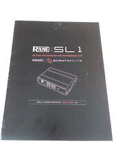 Rane Sl1 Scratch Live Instruction Manual