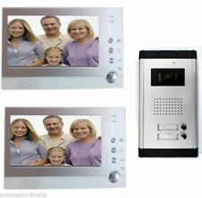 Kit Videocitofono bifamiliare Telecamera 2 Monitor 7 Video e Foto fotografa