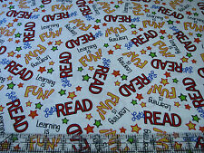 2.5 Yards Cotton Fabric - QT Learning is Fun Back to School Teacher's Words Wte