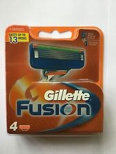 GILLETTE FUSION RAZOR BLADES PACK OF 4    NEW AND SEALED FROM UK SELLER