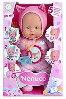 Nenuco Muñeco Blandito con 5 Funciones para Niña Pequeña de 1-5 años Color Rosa