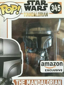 Funko Pop Mandalorian Amazon Exclusive Chrome  Helmet Sold Out In Hand Ships Now