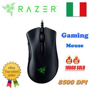 Razer DeathAdder V2 RGB Mouse Da Gioco Ottico 8500DPI 6 Pulsanti Per PC ITA I3X7