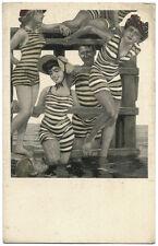 Original Vintage 1910s Simplicissimus artist's postcard, swimuit beauties